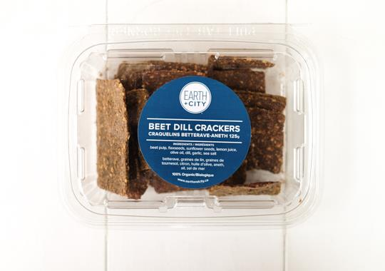Beet Dill Crackers