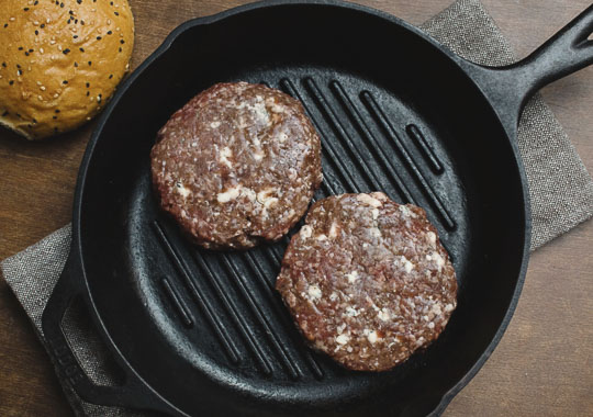 Blue Cheese & Beef Burgers
